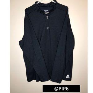 Reebok 1/4 zip, pullover/ 2xl/ navy blue